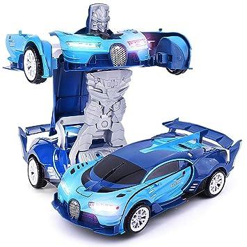 transfom Supercar, Reino Unido deportivo 1: 18 – Auto con Metamorfosis automática para robot