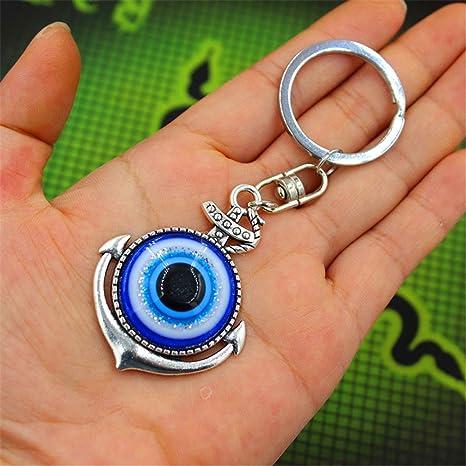Amazon.com: jzone Classic llavero de mal de ojo azul Hamsa ...