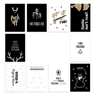 E Weihnachtskarten.Postkarten Weihnachtskarten Anti Weihnachten Schöne Grüße Zum Fest Verschiedene Sets Set 3