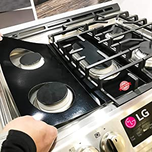 LG Stove Protector Liners - Stove Top Protector for LG Gas Ranges - Customized - Easy Cleaning Stove Liners for LG Model LRG3061ST/01