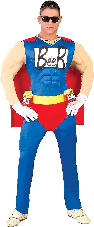 Guirca-80743 Disfraz adulto beerman, Color blu,rosso e giallo, Talla 52-54 (80743.0)