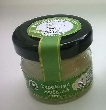 Cera de abeja natural humectante Crema para piel seca – con zumo de pepino, aceites
