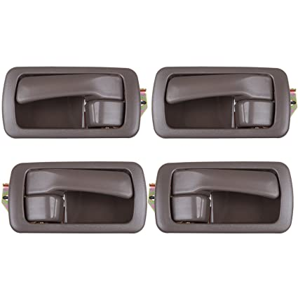 Auto Parts and Vehicles Auto Parts & Accessories Set 4Pcs Front Black Outside Gray Inside Door Handles for Toyota Camry 1997-2001