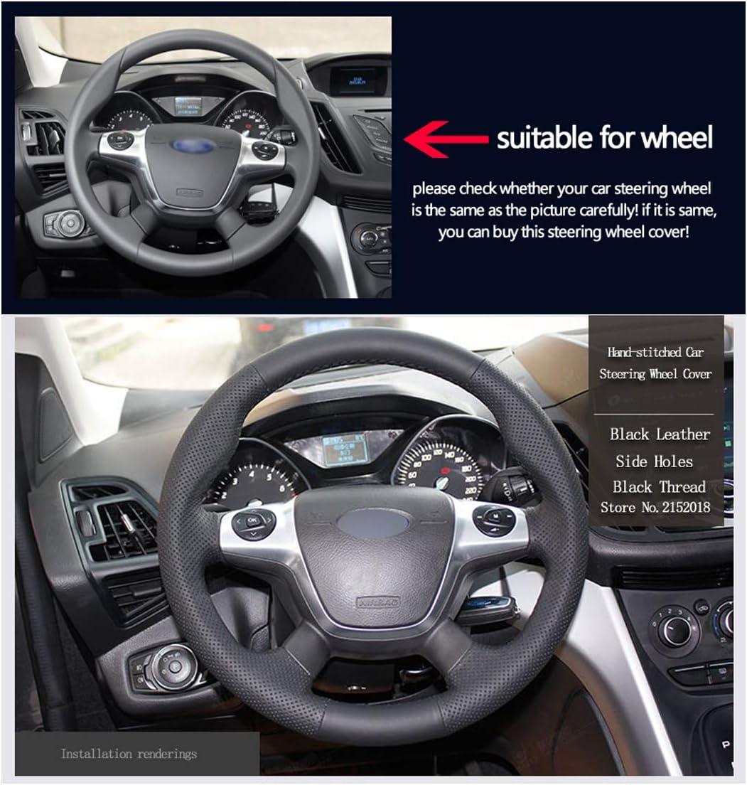 Shining Wheat Lenkradhülle Aus Glänzendem Weizenleder Für Ford Focus 3 2012 2014 Kuga Escape 2013 2016 C Max 2011 2014 Auto