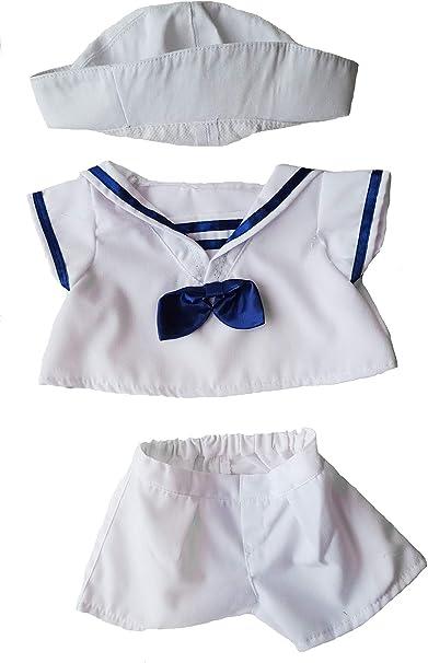 "Teddy Bear Sailor Boy Outfit With Hat fits 16/"" teddy mountain and Build a Bear"