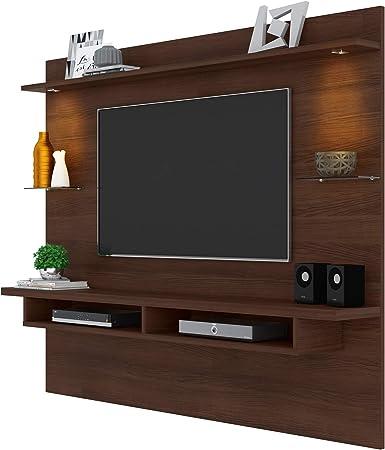 Veneza Media Center TV Panel de Pared Centro de Entretenimiento y Medios para televisores de hasta 60 Pulgadas (Chocolate): Amazon.es: Hogar