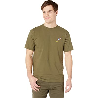 Publish Painted Quill Graphic Tee Olive SM: Clothing