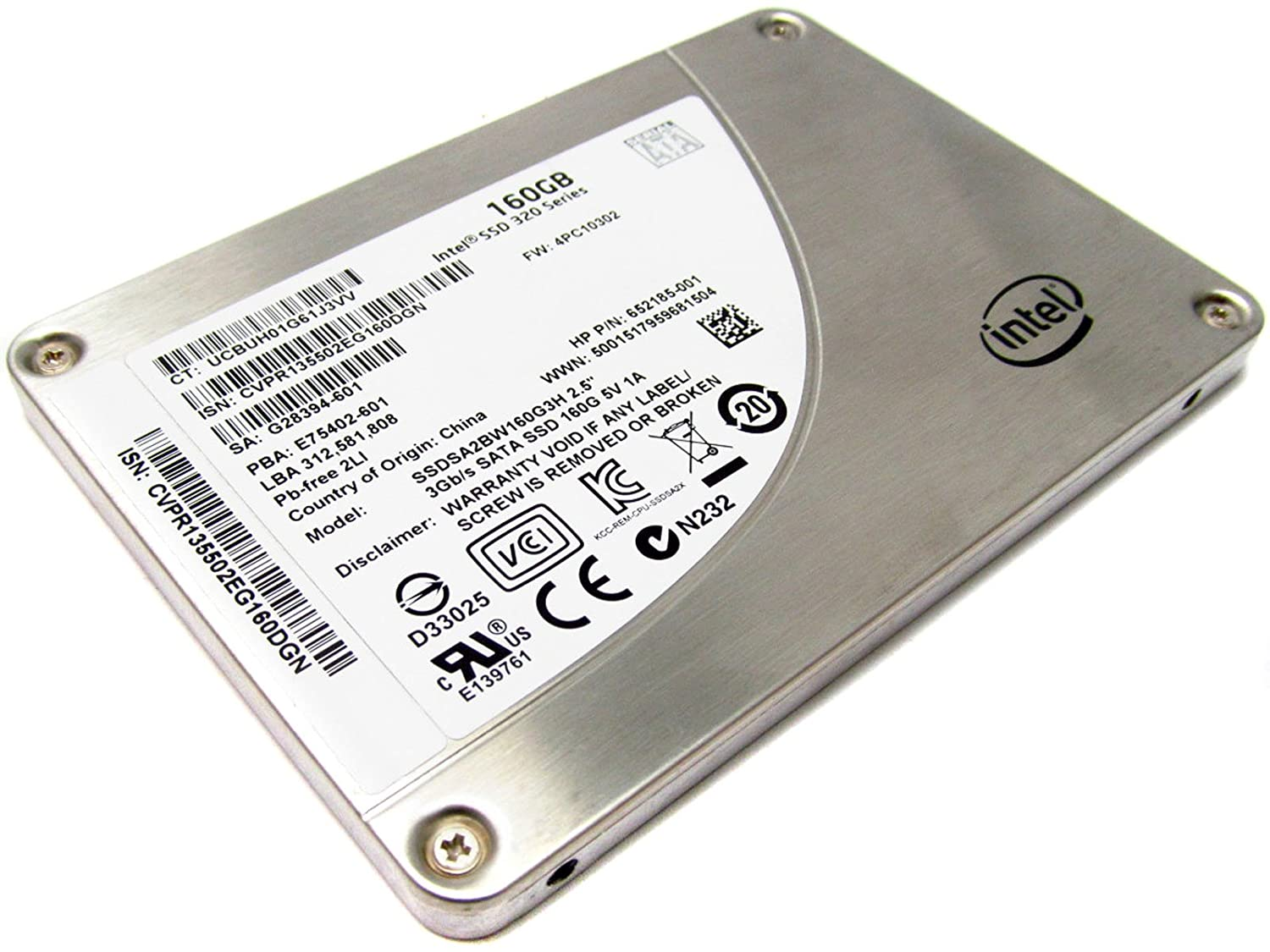 Intel SSD 320 Series 160GB - SSDSA2BW160G3H