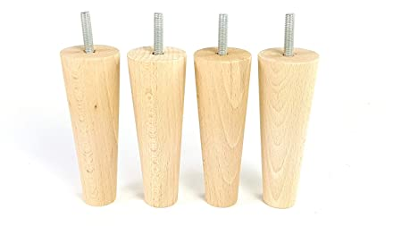 CHAIRS 10mm 4x WOODEN FEET FITTING MAHOGANY FURNITURE LEGS SOFA SETTEE M10