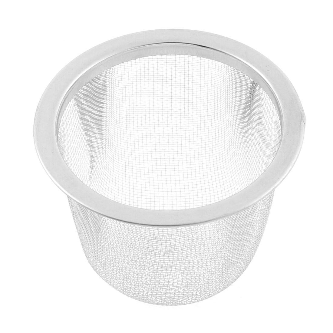 Stainless Steel Household Mesh Tea Infuser Strainer Basket 60mm Dia uxcell SYNCELEC007221