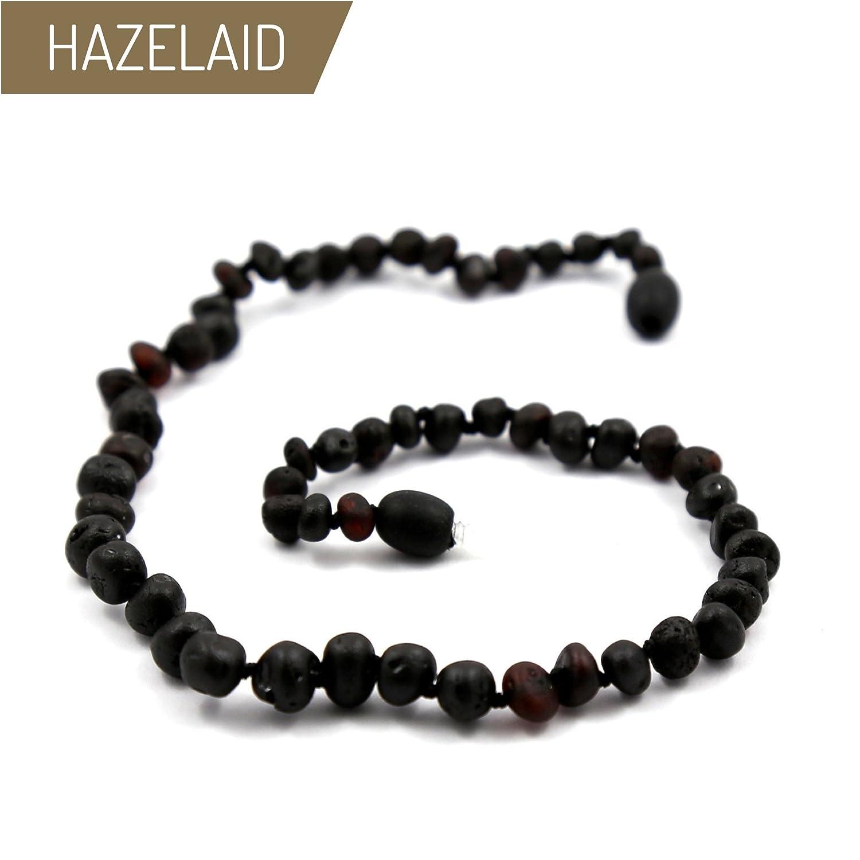 Hazelaid (TM) 12' Twist-Clasp Baltic Amber Coffee Necklace
