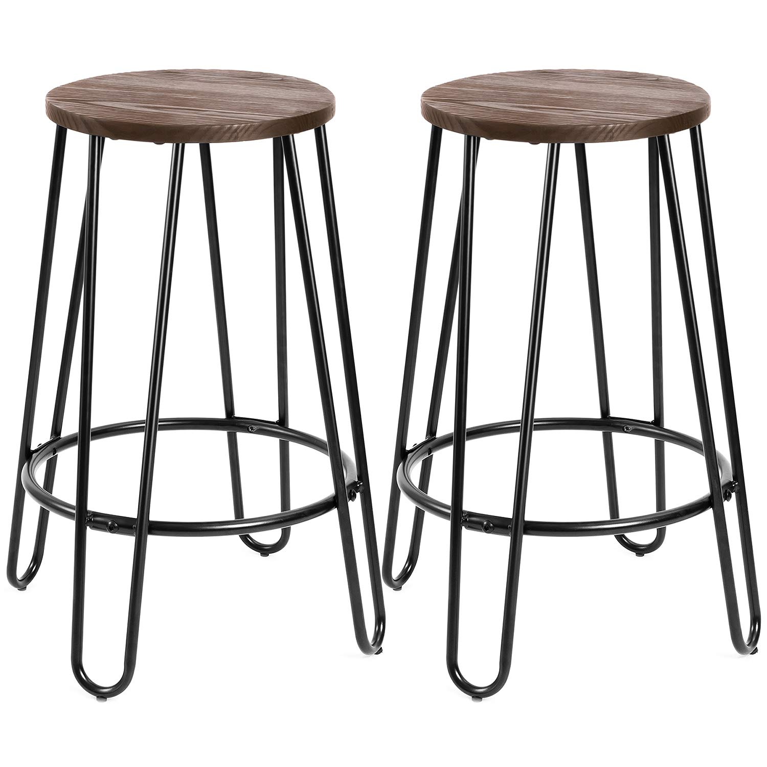 Amazoncom Devoko Metal Bar Stools 24 Indoor Outdoor Stackable