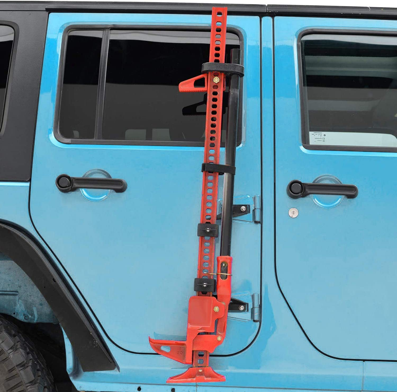 Yoursme Hi Lift Jack Mount Hood Door Hinge Bracket Kit for 2007-2018 Jeep Wrangler JK JKU