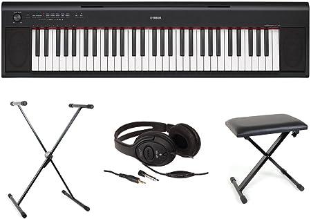 Teclado Yamaha - Pack completo NP12 - Color negro: Amazon.es ...