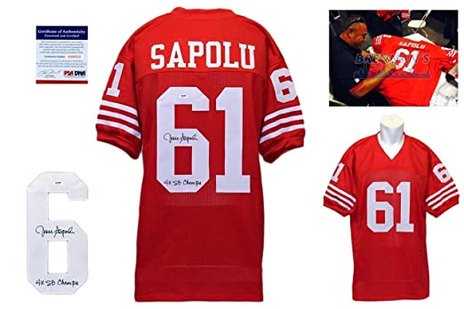 84a8568db09 Jesse Sapolu Signed Jersey - San Francisco 49ers Autographed - PSA DNA at  Amazon s Sports Collectibles Store