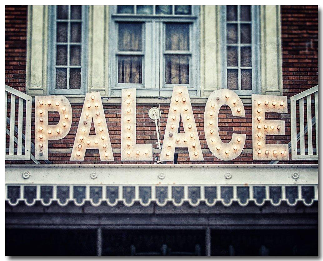Palace Theatre Photograph, Rustic Decor, Movie Room Art