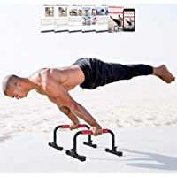 Rubberbanditz Parallettes Push Up & Dip Bars | Lightweight, Non-Slip Parallete Stand for Crossfit, Gymnastics…