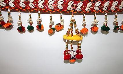 Decorative Handcrafted Multicolour Door Hangings Traditional Rajasthani Bhandhanwar Toran & Buy Decorative Handcrafted Multicolour Door Hangings Traditional ...