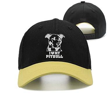 Rundafuwu Gorras de béisbol/Hat Trucker Cap Love My Pitbull-1 ...