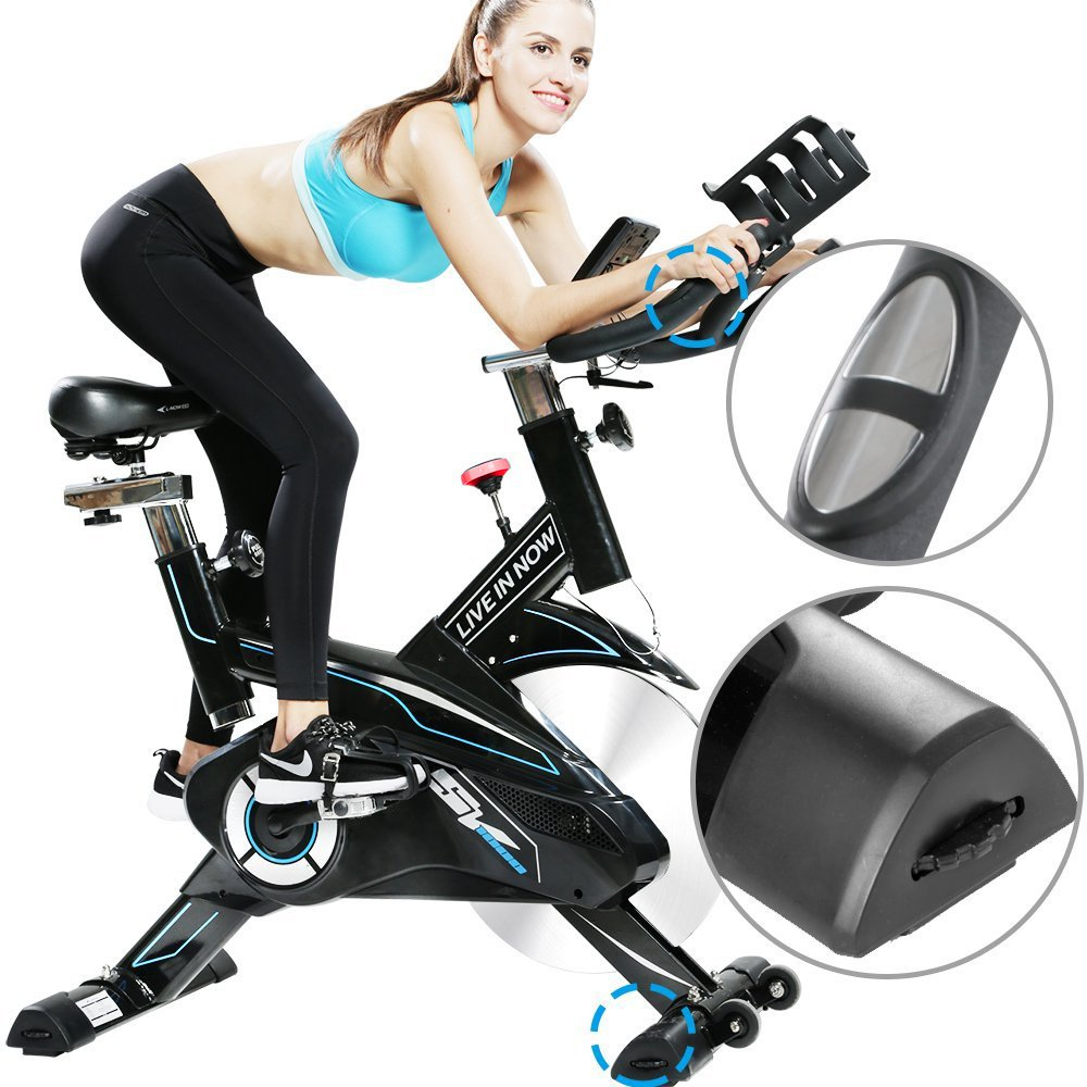 L NOW CycleFire LD-582 Health & Fitness Indoor Stationary Cycling Bike with Pulse for Aerobic and Cardio Exercise and Training(White) by L NOW (Image #4)