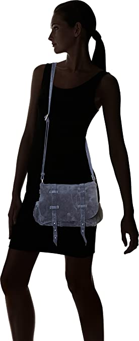 Bess Croute Mure, Womens Cross-Body Bag, Bleu (Mure), 9x20x23 cm (W x H L) Mila Louise