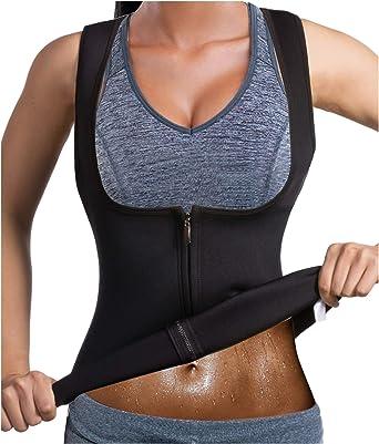 Men/'s Neoprene Zipper Waist Trainer Vest Slimming Body Shaper Corset Sweat Vest