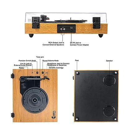 VMO - Tocadiscos (3 velocidades): Amazon.es: Electrónica
