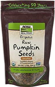 NOW Foods Organic Pumpkin Seeds, 12-Ounce