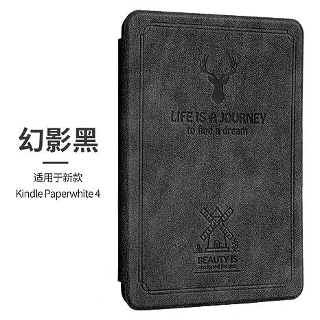HLCBHT Carcasa Kindle Funda Paperwhite4 Phantom Black Décima ...