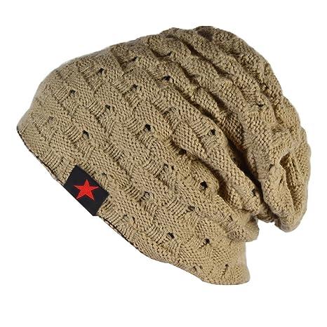 Thenice Cappello Uomo Reversibile Berretto Inverno Cap (Beige ... 40a1a0266a3d