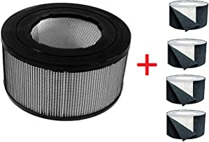 BlueBird Filters Honeywell Replacement Filter Kit 17000-S - 20500 True HEPA Filter + Exact Fit Pre Cut Carbon Pre Filters (1 HEPA Filter + 4 Carbon Wraps)