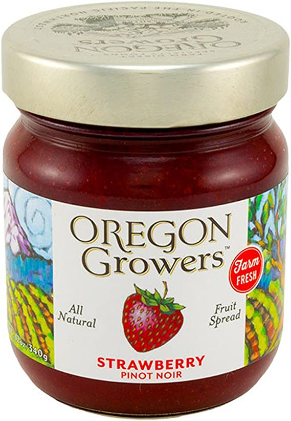 Oregon Growers & Shippers Strawberry Pinot Noir Fruit Spread 12 oz.