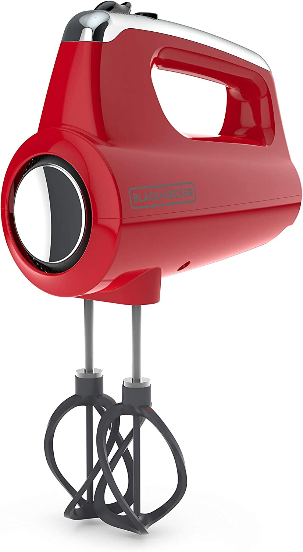 BLACK DECKER MX600R Helix Performance Premium 5-Speed Hand Mixer, small, Red