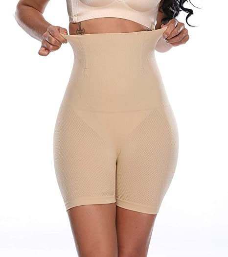 15984e037db01 Image Unavailable. Image not available for. Color  Larry Marry Women High Waist  Cincher Girdle Belly Slimmer Trainer Black Shapewear ...