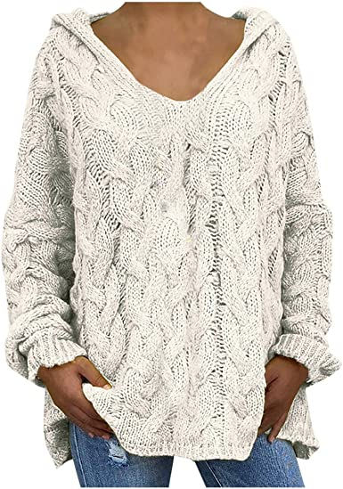 Gilet Pull Long Tricot Pull Pull col V en fourrure synthétique 36 38 40