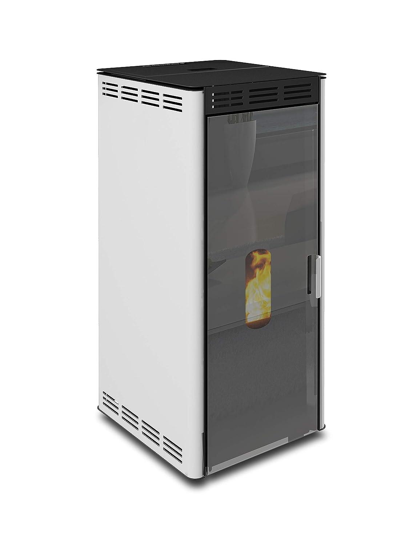 Ungaro batfire estufa de pellets termo estufa BS1/24 estufa de 24 KW,/ventilada con Cristal de Espejo: Amazon.es: Hogar