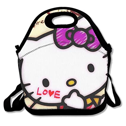 e6b34cf723 Image Unavailable. Image not available for. Color  Meirdre Lunch Box Love  Happy Hello Kitty Insulated Personalized Tote ...