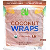 NUCO Certified ORGANIC Paleo Vegan Gluten and Grain Free Cinnamon Coconut Wraps, 5 Count (One Pack of Five Wraps)