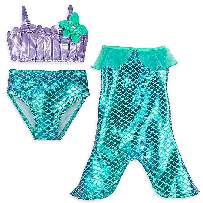 Amazon.com: Disney Ariel Swimwear Set for Girls: Clothing