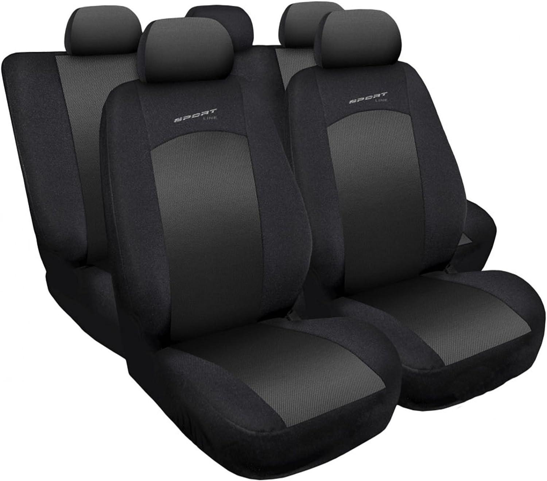 Universel Siège Auto Housses Gris pour Seat Ibiza 1+1 Front Sitzbezüge Housses de protection