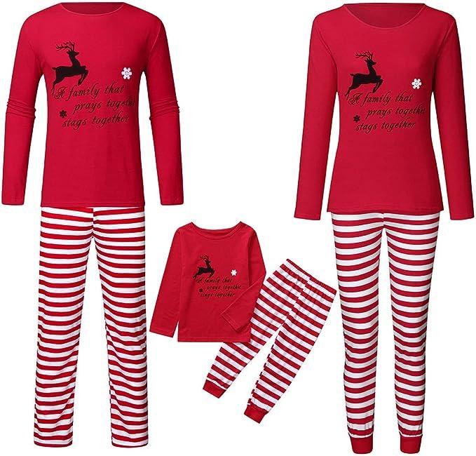 Conjunto de Pijamas a Juego de Navidad para la Familia ...