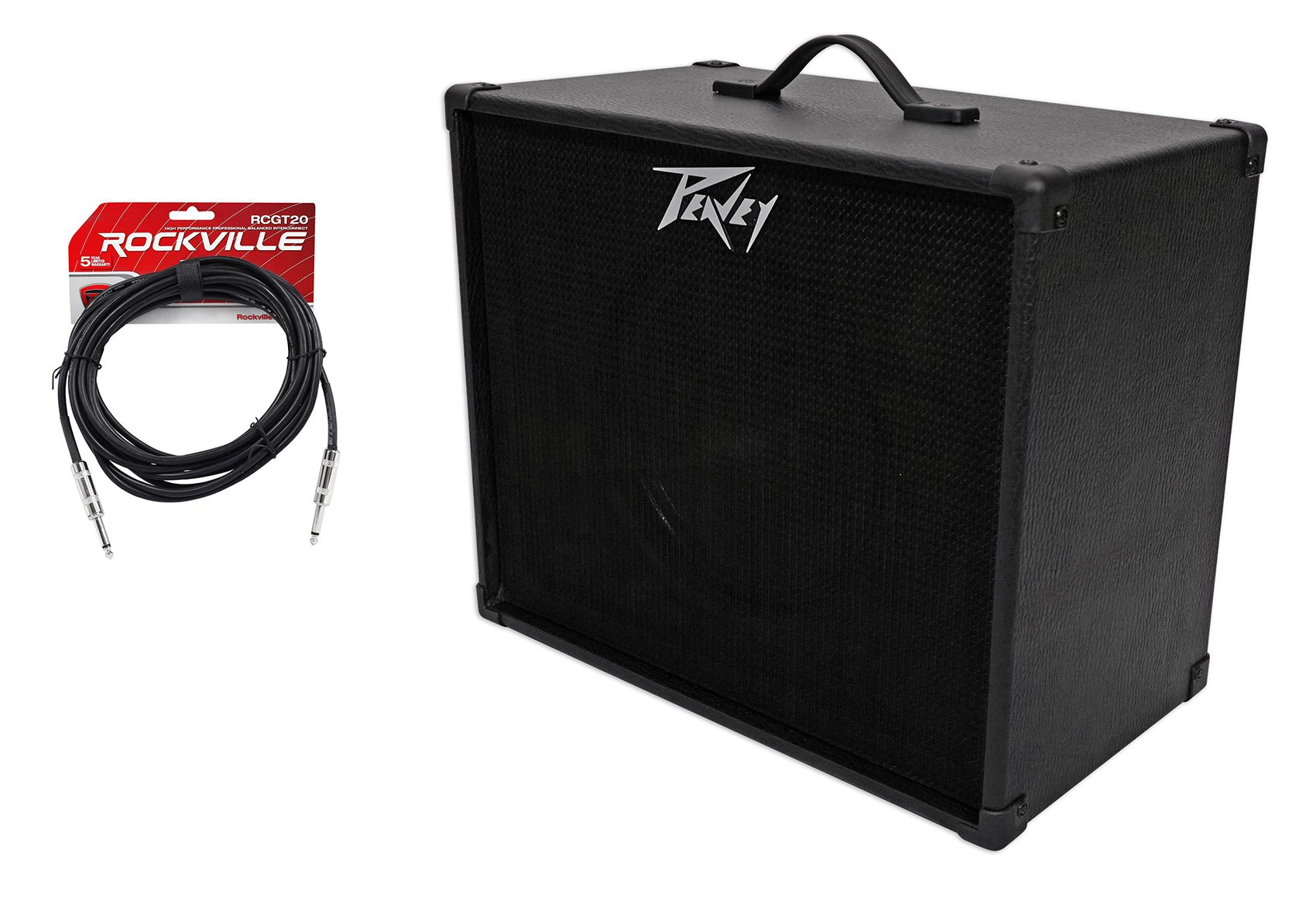 Peavey 112 Extension Cabinet w/ 12'' Blue Speaker + 20 Ft. Guitar Cable