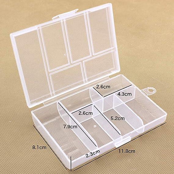Mayyou Almacenamiento de pl/ástico Caja peque/ña Clear no divisi/ón Craft joyer/ía contenedor de Herramientas