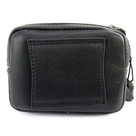 Francinel [L8426] - Pochette ceinture cuir 'Lafayette' noir (12x9x3 cm) ijwkG