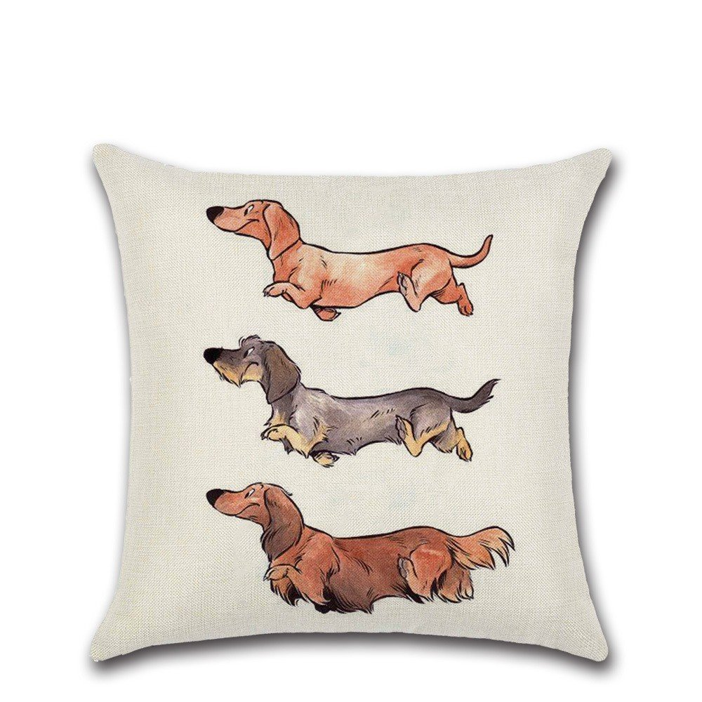 Excelsio - Funda de cojín para sofá, cama, salón, dormitorio, decoración del hogar, cuadrada, funda de almohada de lino y algodón, 45 x 45 cm: Amazon.es: ...