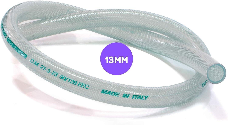 2 metros de diámetro 13 mm | Tubo de red transparente de 13 mm interior de 19 mm exterior para alimentos SERTIX de FOLL PLAST®