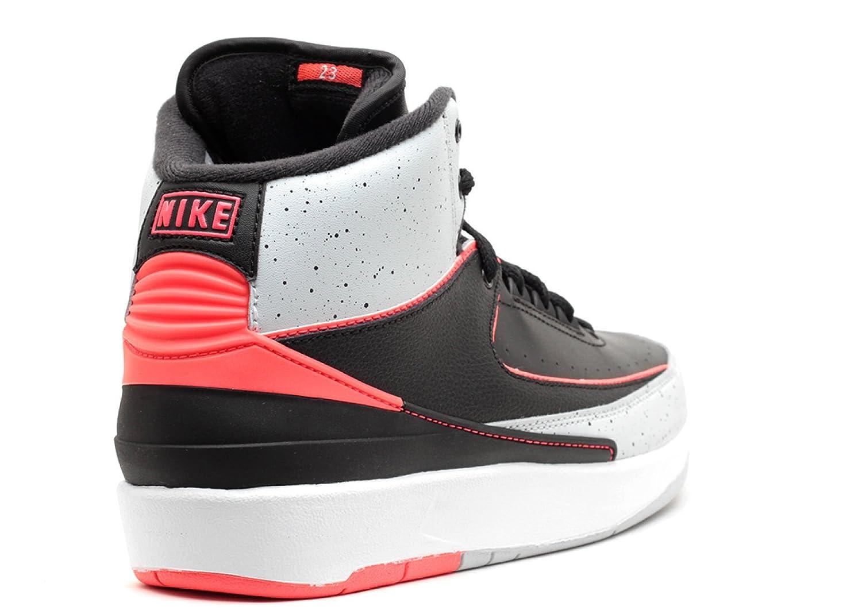 26262020a5f7 Amazon.com  Jordan 2 Retro BG Big Kids Basketball Shoes Black Infrared-Pure  Platinum-White 395718-023  Shoes