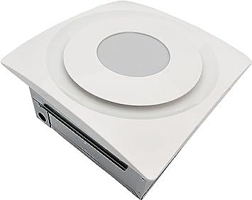 Aero Pure AP120-SL W Slim Fit 120 CFM Bathroom Fan with LED Light TrueWhite Finish