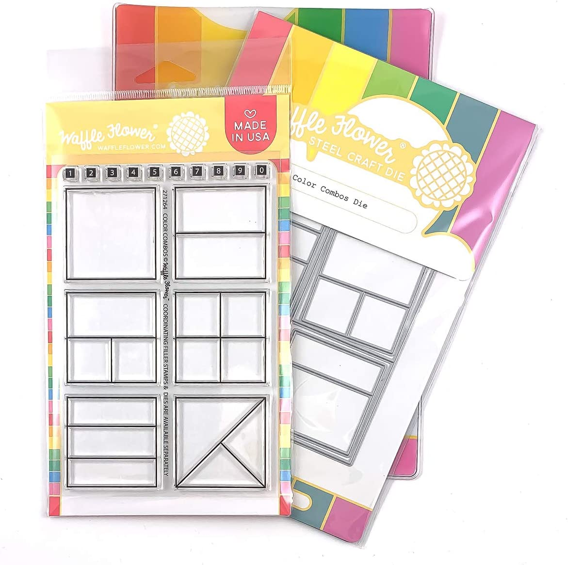 Waffle Flower Color Combos Die-organize your ink and paper supplies and document your favorite color combos