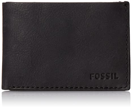 96fdcc9460 Image Unavailable. Image not available for. Colour: Fossil Nova Black Men's  Wallet ...